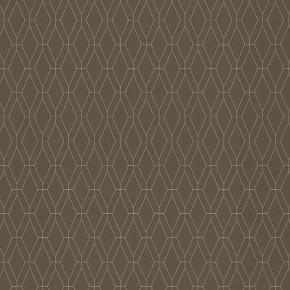 Diamond Lattice Wallpaper In Brown Design By York Wallcoverings