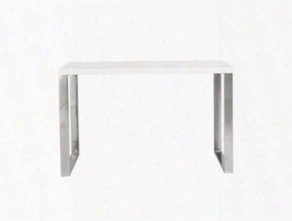 Dillon Desk In White Lacquer Design By Euro Style