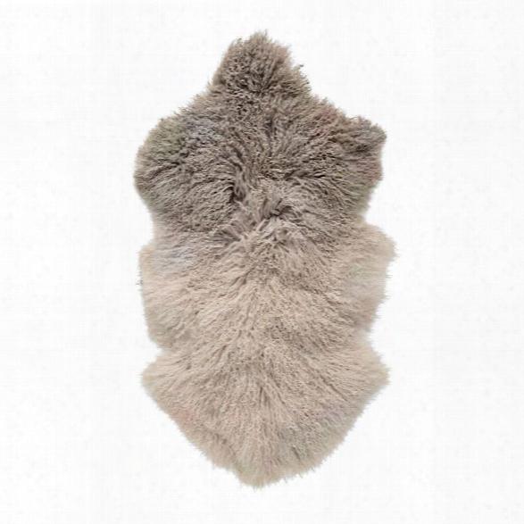 Dip Dye Stone/off White Tibetan Lamb Fur Design By Bd Edition