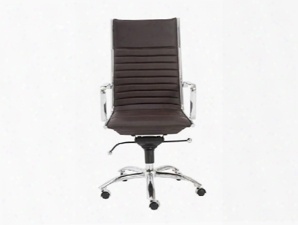 Dirk High Back Office Chair In Brown Design By Euro Style