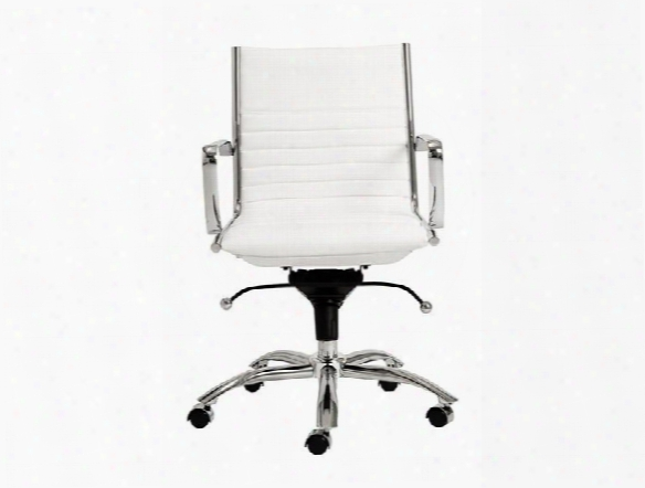Dirk Low Back Office Chair In White Design By Euro Style