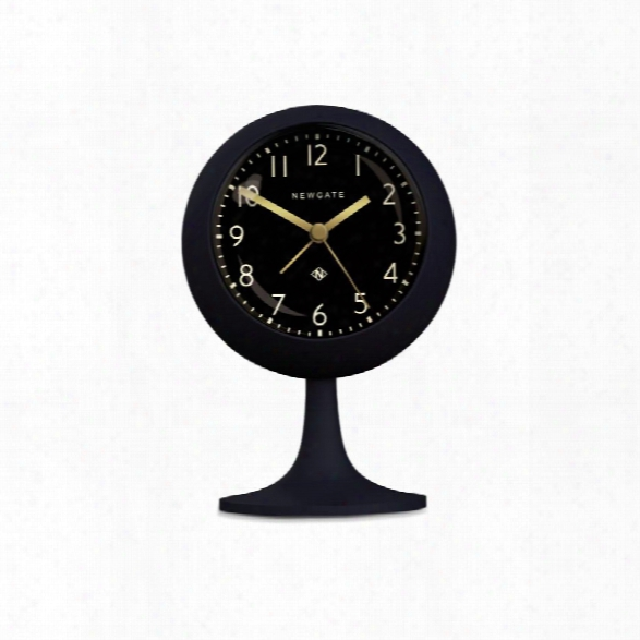 Dome Alarm Clock In Silicone Petrol Blue With Black Face Design By Newgate