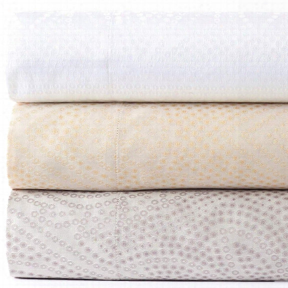 Dots White Pillowsham Design By Luxe