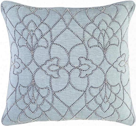 Dotted Pirouette Pillow In Aqua Design By Candice Olson