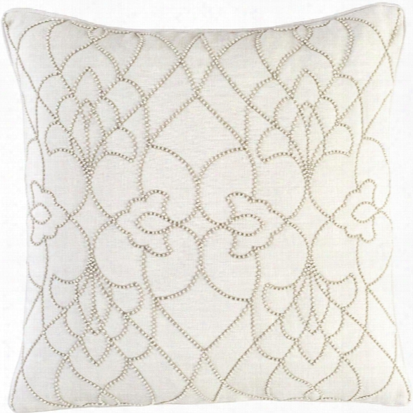 Dotted Pirouette Pillow In Cream Design By Candice Olson