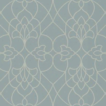 Dotted Pirouette Wallpaper In Blue And Tan Design By York Wallcoverings
