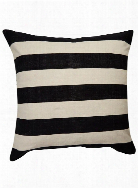 Double Stripe Yorkville Pillow In Black Design By Kate Spade