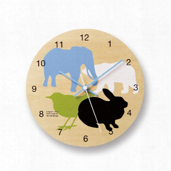 Doubutsu Kids Clock Design By Lemnos