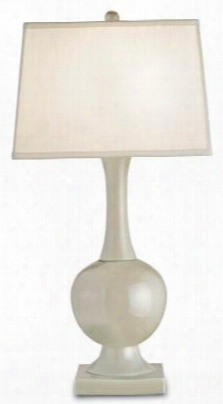 Downton Table Lamp In Pale Celadon Design By Currey & Company
