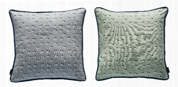 Duo Pillow In Grey & Pale Mint Design By Oyoy