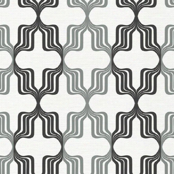 Earn Your Stripes Wallpaper In Black And Silver Design By York Wallcoverings