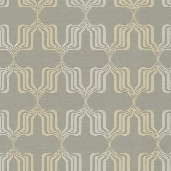 Earn Your Stripes Wallpaper In Grey And Gold Design By York Wallcoverings