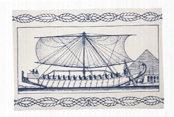 Egyptian Ship Tea Towel Design By Thomas Paul