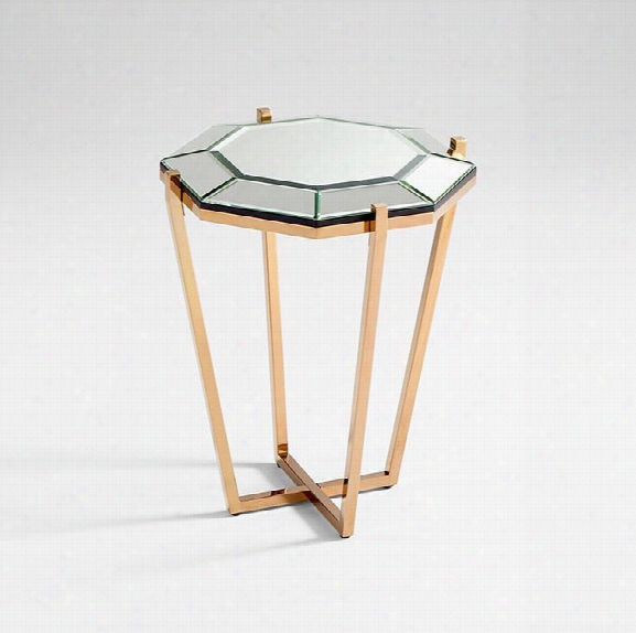 Elara Side Table In Rose Gold Design By Cyan Design