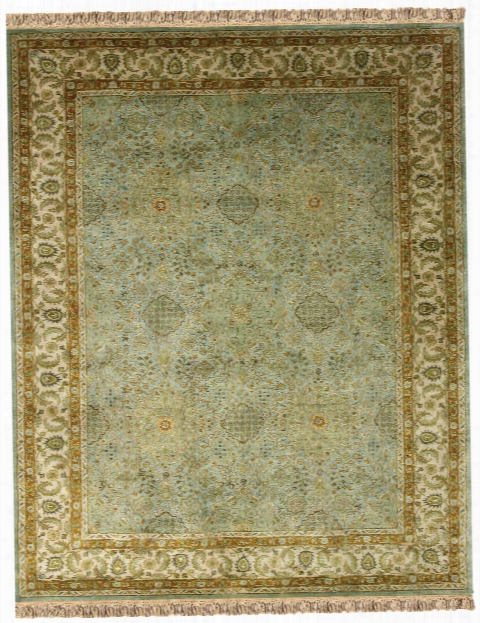 Elegance Collection New Zealand Wool Area Rug In Ocean And Beige By Bd Fine