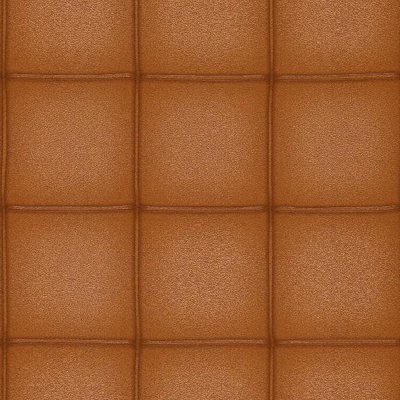Elegant Faux Leather Wallpaper In Cognac By Bd Wall