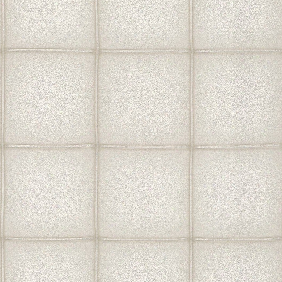 Elegant Faux Leather Wallpaper In Cream By Bd Wall