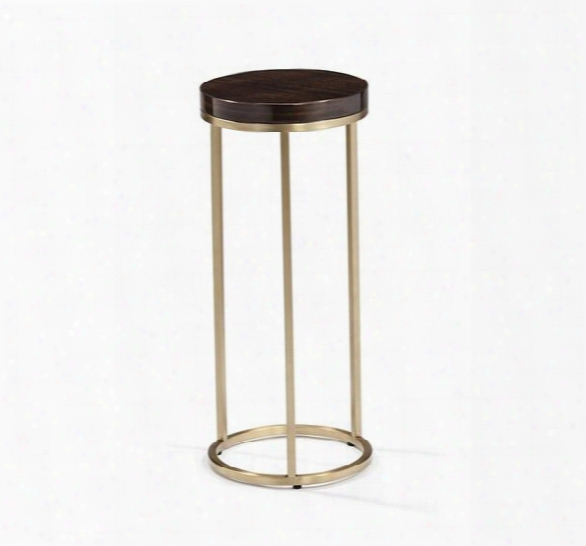 Elijah Round Drink Table In Eucalyptus & Brass Design By Interlude Home