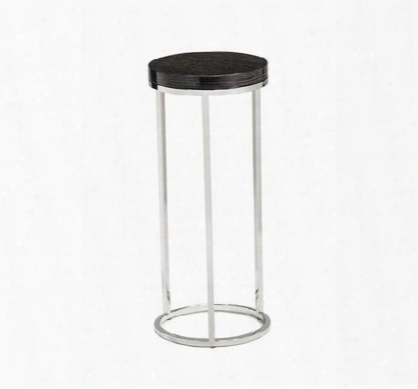 Elijah Round Drink Table In Smoked Grey Oak Design By Interulde Home