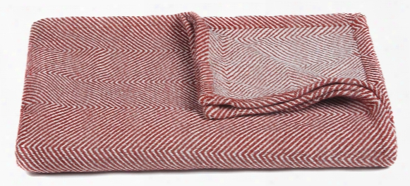 Ella Collection Throw In Red & White Design By Chandra Rugs