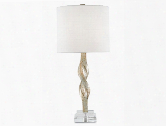 Elyx Table Lamp In Chinois Silver Leaf Design By Currey & Company