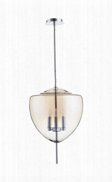 Ember 3 Light Pendant In Chrome Design By Cyan Design