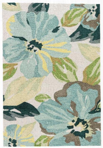 Emmy Handmade Floral Blue & Green Area Rug Design By Jaipur