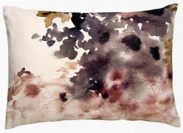 En Casa Pillow In Gardenia & Silver Peony Design By En Casa