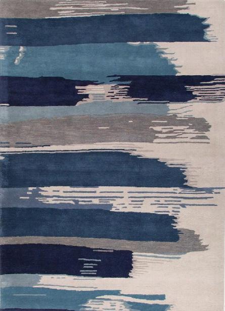 En Casa Tufted Rug In Bonnie Blue & Federal Blue Design By Jaipur