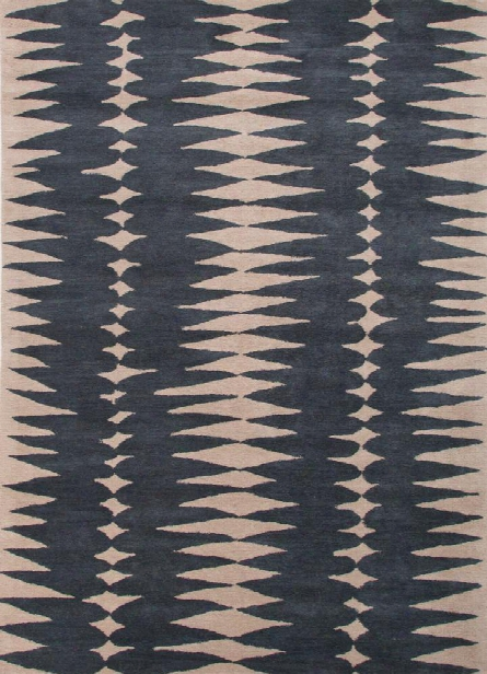 En Casa Tufted Rug In Ensign Blue & Bijou Blue Design By Jaipur