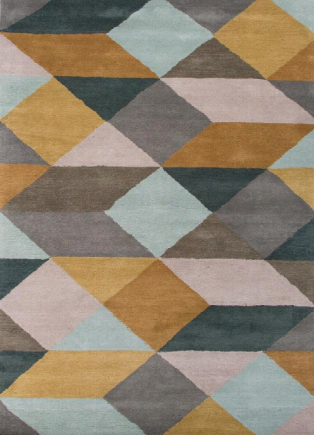 En Casa Tufted Rug In Storm Grey & Dragonfly Design By Jaipur