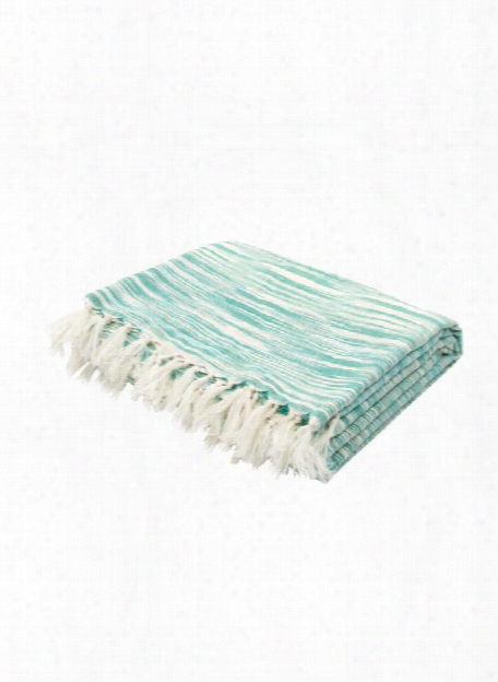 Essential Throw In Porcelain Green & Turtle Dove Design By Jaipur