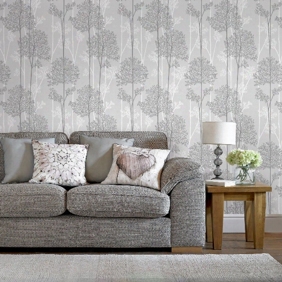 Eternal Wallpaper In Grey From The I Nnocence Collection By Graham & Brown