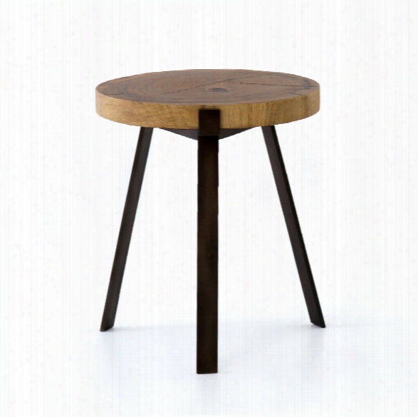 Exeter End Table In Blonde Guanacaste