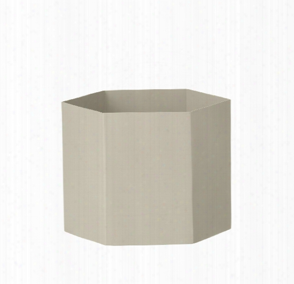 Extra Large Hexagon Pot In Grey Design By Ferm Living