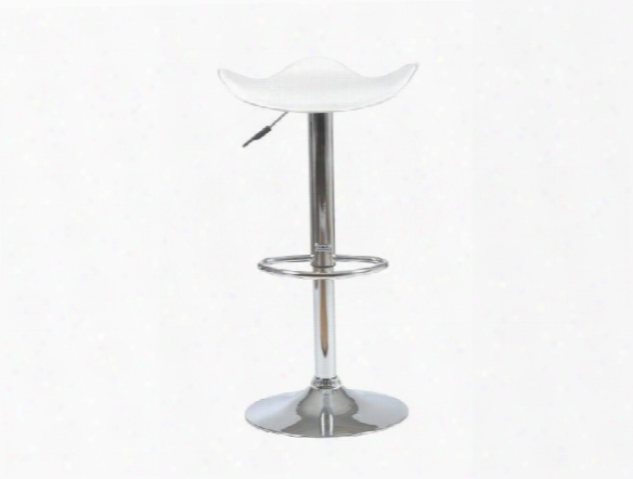 Fabia Bar Counter Stool In White Design By Euro Style
