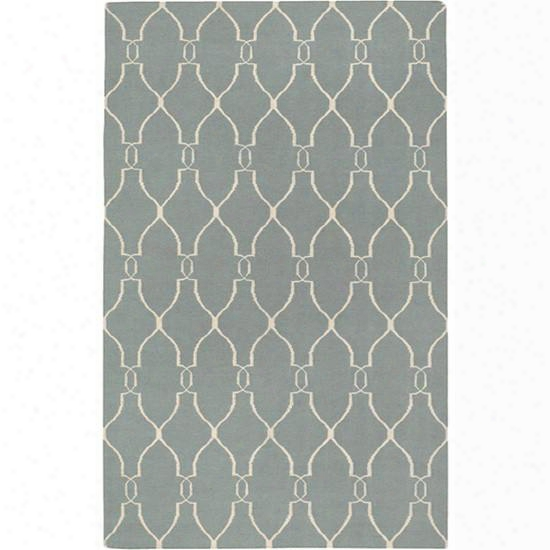 Fallon Wool Area Rug In Slate Blue And Papyrus Design By Jill Rosenwald