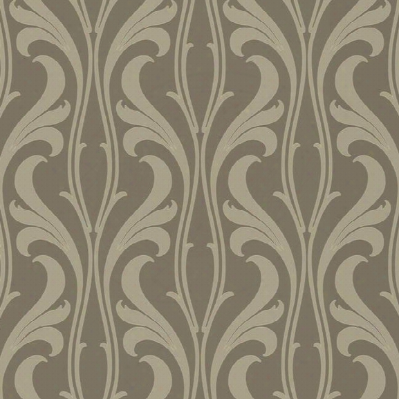 Fanciful Wallpaper In Beige And Metallic Design By Candice Olson For York Wallcoverings