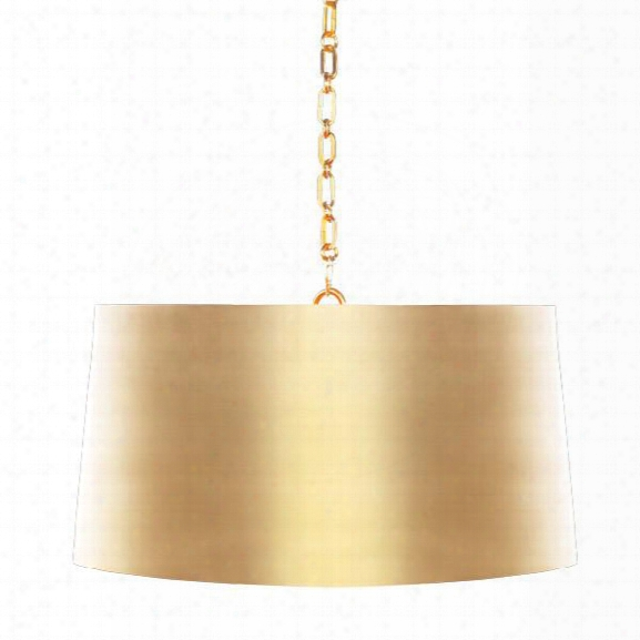 Fanning Drum Pendant In Antique Brass Design By Aidan Gray