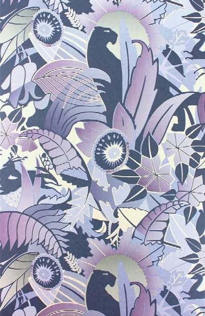 Fantasque Wallpaper In Dove, Mink, And Pale Gilver By Osborne & Little