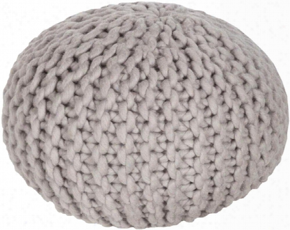 Fargo Wool Pouf In Taupe Color