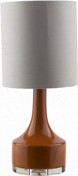 Farris Table Lamp In Orange Design By Surya