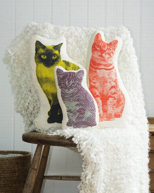 Fauna Cat Pillow In Various Cat Shapes Design By Areaware