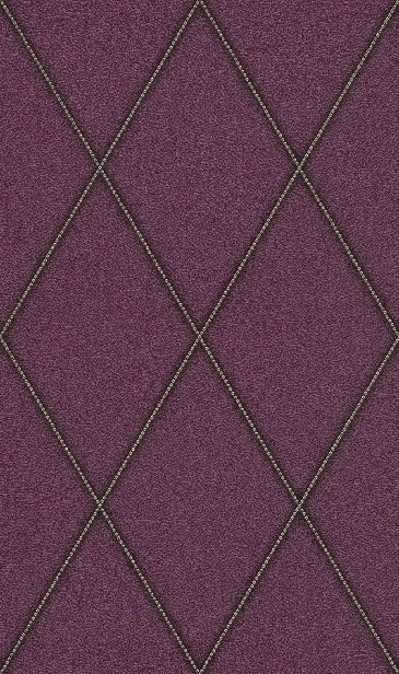 Faux Leather Diamonds Wallpaper In Aubergine By Bd Wall