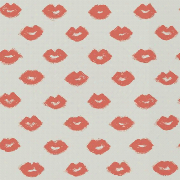 Femme Fatale Wallpaper In Coral And Silver Design By York Wallcoverings