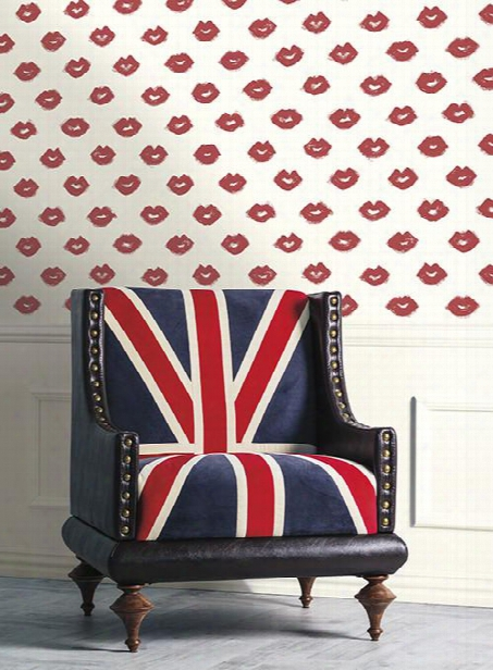 Femme Fatale Wallpaper In Red Design By York Wallcoverings