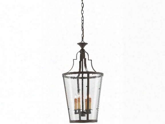 Fergus Lantern In Bronze Gold Design By Currey & Company