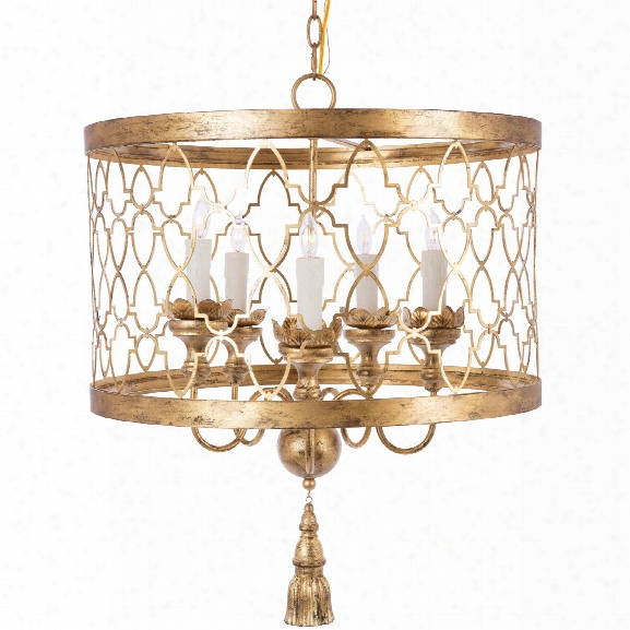 Fiesole Chandelier In Gold Design By Aidan Gray
