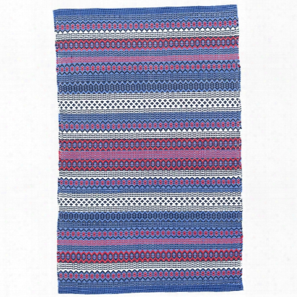 Fiesta Stripe Blue/red Indoor/outdoor Rug Design By Dash & Albert