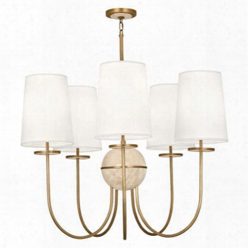 Fineas Collection Chandelier Travertine Stone Accent Design By Jonathan Adler